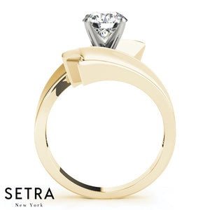 DIAMOND ENGAGEMENT SOLITAIRE RING 14K GOLD