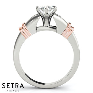 MARQUISE CUT SOLITAIRE DIAMOND ENGAGEMENT RINGS 14K GOLD
