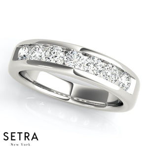 0.75 CT 7 STONE DIAMOND CHANNEL SET WEDDING BAND