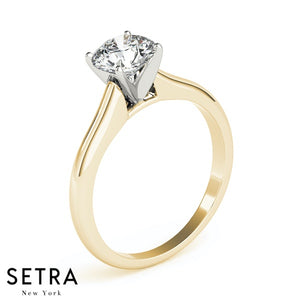 SOLITAIRE DIAMOND ENGAGEMENT RINGS 10K GOLD