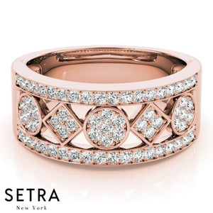 14k Fine Rose Gold Diamond Ring