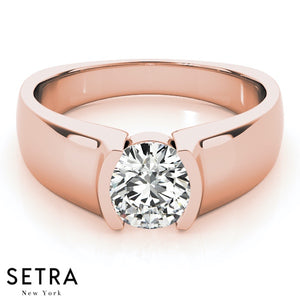 EUROPEAN SOLITAIRES DIAMOND ENGAGEMENT 14K GOLD RINGS