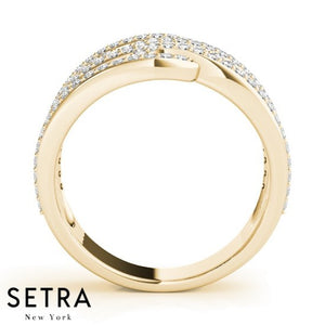 Zebra Right Hand Fine 14kt Gold Diamond Ring