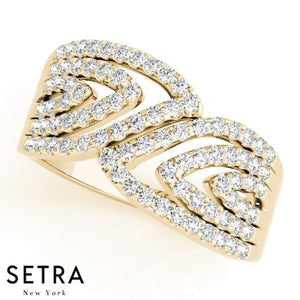 Paremyd Right Hand Fine 14kt Gold Diamond Ring