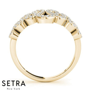 Wavy Ring Diamond 14kt Gold