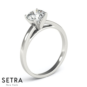 SOLITAIRE DIAMOND ENGAGEMENT GOLD RING 14K