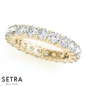 14kt Round Cut Diamond Eternity Wedding Band Ring