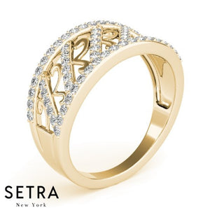 Elegant Fine 14kt Gold Diamond Ring