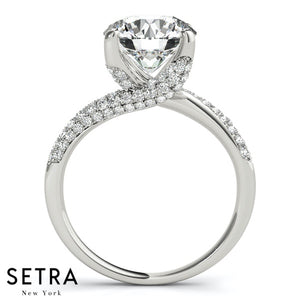 BYPASS MICRO PAVE SETTING DOAMONDS ENGAGEMENT RINGS