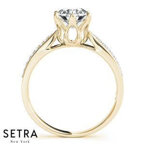 PRONG SETTING DIAMOND ENGAGEMENT RING 14K GOLD