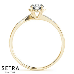 Classic Petite Diamond Engegement 14kt Ring