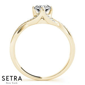 14k FINE GOLD WOMEN'S DIAMONDS SEMI-MOUNT ENGAGEMENT RINGS