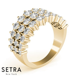 Right Hand Fine 14kt Gold Diamond Ring