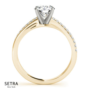 ByPass Oval Cut Engagement 14kt Gold Ring