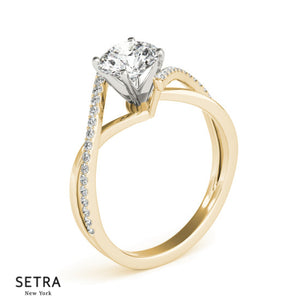 ByPas Diamond Engagement Ring 14kt Gold