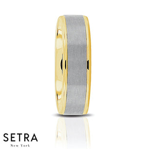 Fancy Designer For Him & Hers Solid Wedding Band 14K Gold