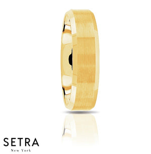 Fancy Shank Designer For Him & Hers Solid Wedding Band 14K Gold