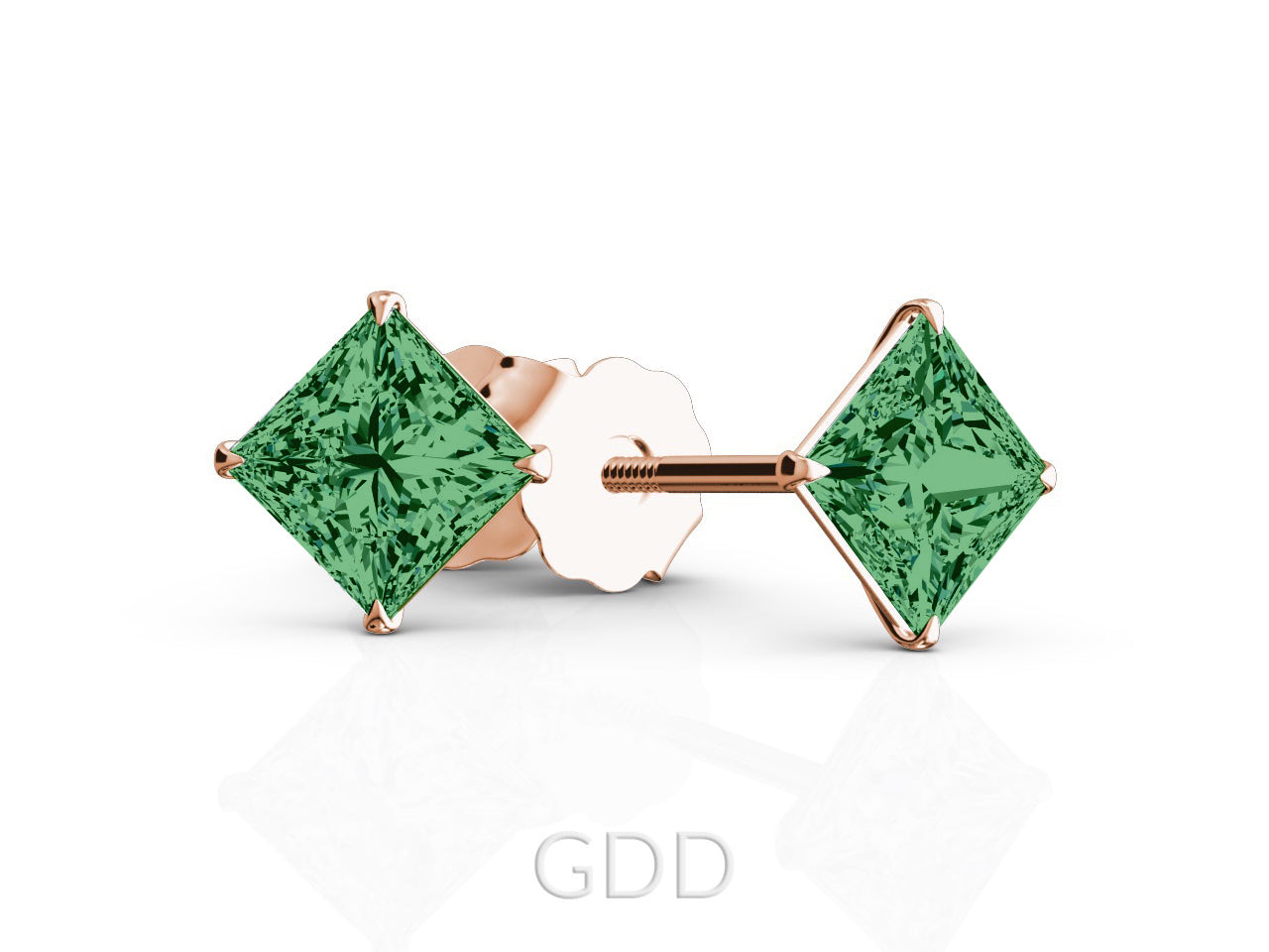 york kate jewelry cut green stud normal spade lyst gallery new product emerald in earrings