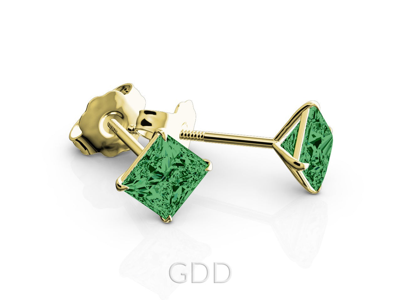 jewelry gold lyst onyx in green stud gallery siren vinader plated monica normal product earrings