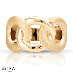 14K FINE YELLOW GOLD RING MATTE FINISH