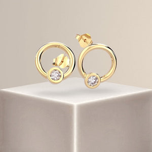Pixie Brilliant Round Diamond Earrings 18k Gold