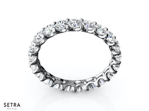2.00 CT ROUND CUT DIAMONDS ETERNITY WEDDING BAND RINGS 14K GOLD