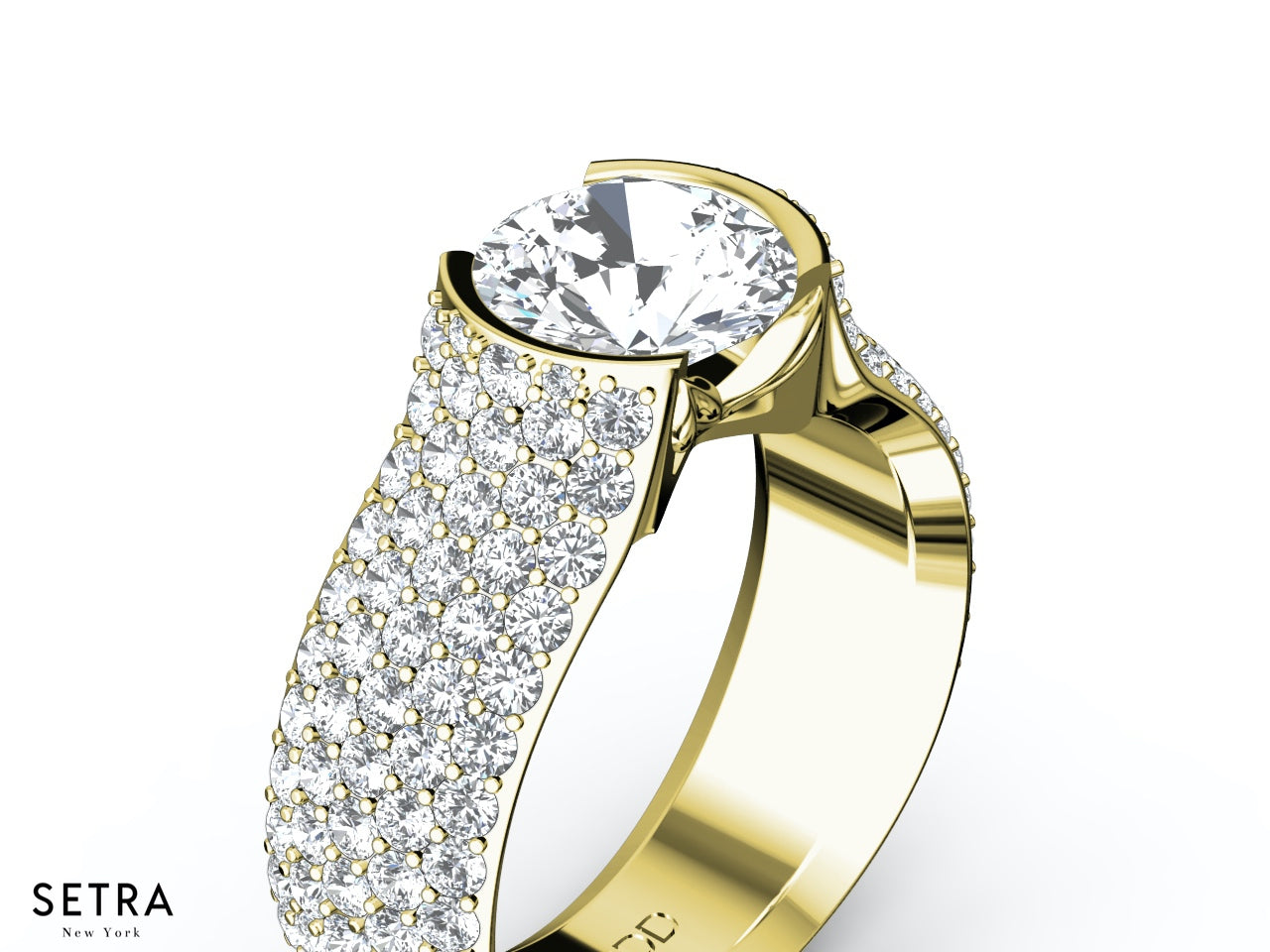yellow jewellery diamond rings gold dimond product ind cid platinum finish in large ring shopcj with