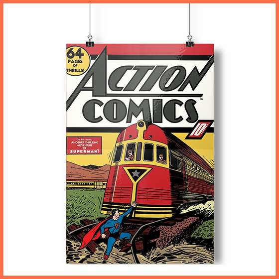 Action Comic Plakat