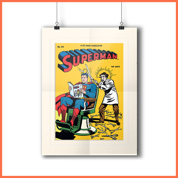 Superman Barber - Plakat