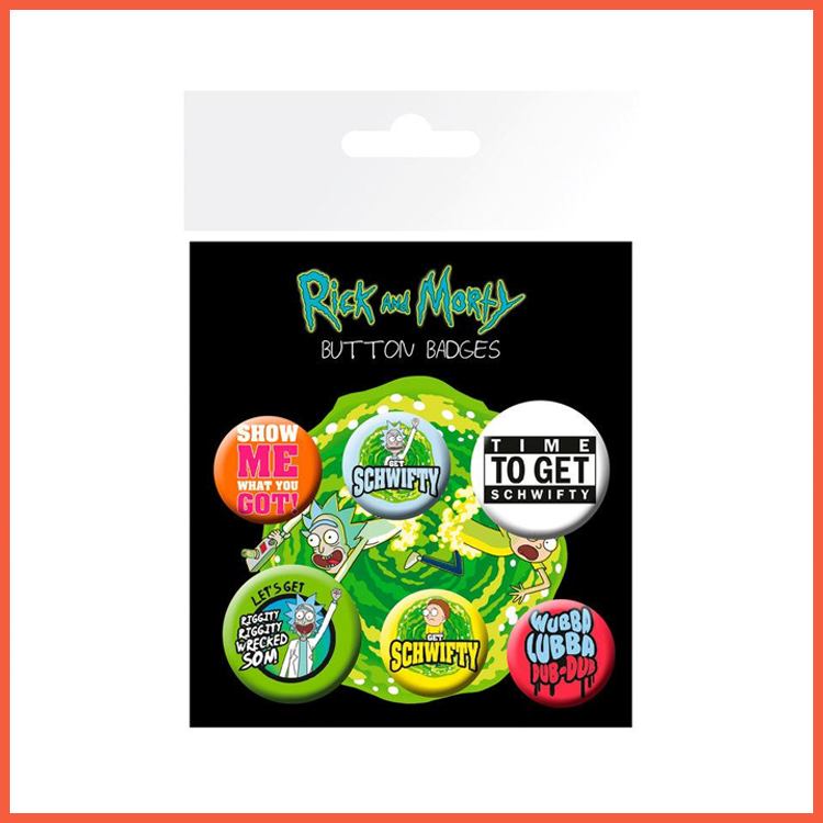 Rick & Morty Badges