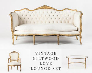 VINTAGE GILTWOOD LOVE LOUNGE SET