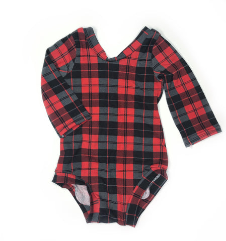 Plaid Leotard - 12 months - ooak