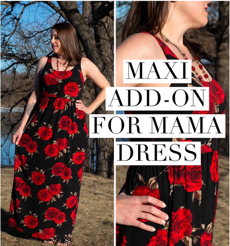 Maxi add on for mama dress
