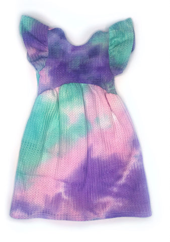 Teal Tie Dye Dress