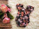 Rust and Pink Floral Leotard