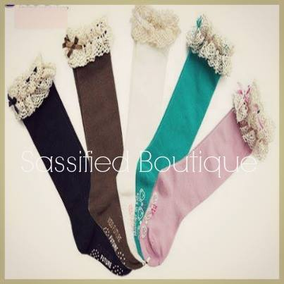 Kids Lace Knee socks - 7pair