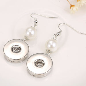 Pearl Snap Button Earrings