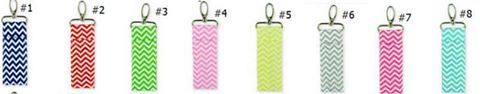Chevron Chapstick Holder Keychain