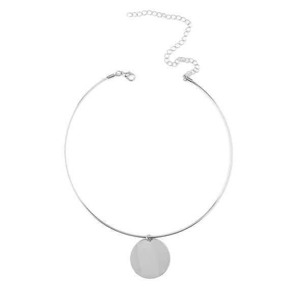Metal Necklace with Blank