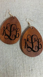 Blank Teardrop Wooden Earrings