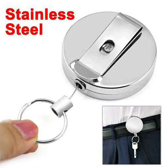 Retractable Belt Clip Keychain
