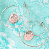 Blank Double Hoop Earrings