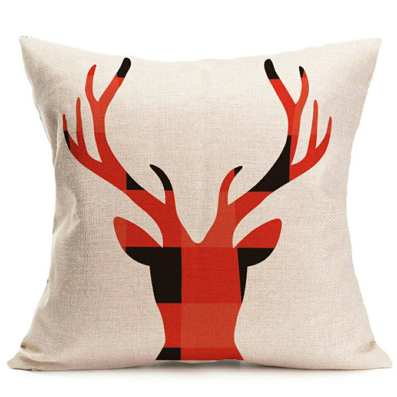 BUFFALO PLAID Deer pillowcase