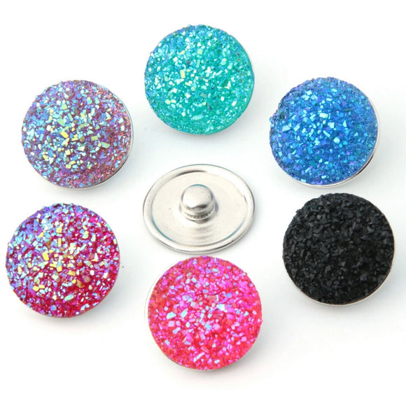 18mm Druzy Snap Button
