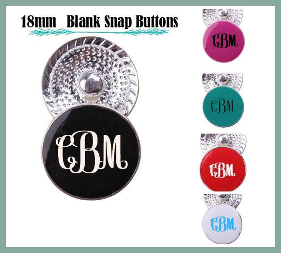 Interchangeable 18mm Blank Enamel Ginger Snap Button
