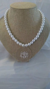 Blank Acrylic Pearl Necklace