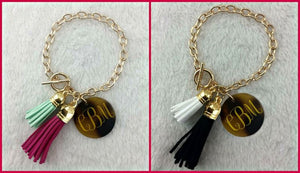 Blank Tortoise Tassel Bracelets (Monogram NOT Included)