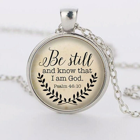 Psalm 46:10 Necklace