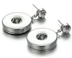 Rhinestone Snap Button Earrings