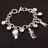 Hairstylist Charm Bracelet with Blank
